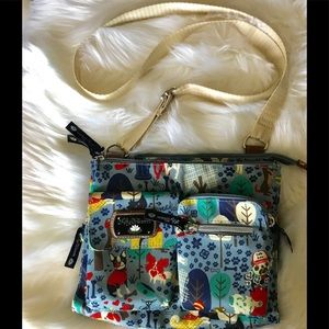 Lily Bloom Crossbody Bag Puppies tons of Storage